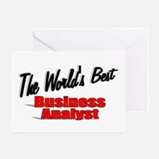 """""""The World's Best Business Analyst"""" Greeting Card"""