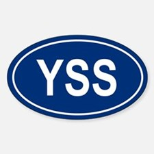 YSS Oval Decal
