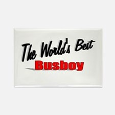 """The World's Best Busboy"" Rectangle Magnet (100 pa"