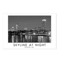 Boston Skyline at Night- Postcards (Package of 8)