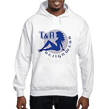 T&A DESIGNWEAR Blue & Grey Hoodie