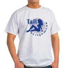 T&A DESIGNWEAR Blue & Grey T-Shirt
