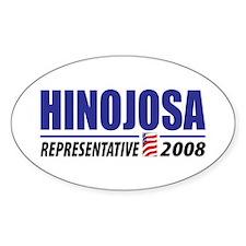 Hinojosa 2008 Oval Decal