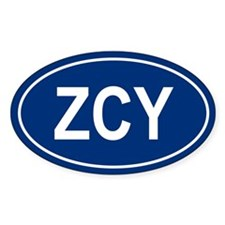ZCY Oval Decal