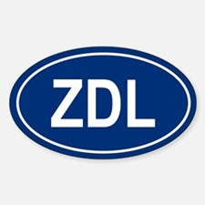 ZDL Oval Decal
