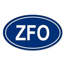ZFO Oval Decal