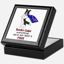 Super Border Collie- black Keepsake Box