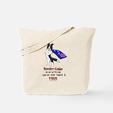 Super Border Collie- black Tote Bag