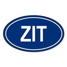 ZIT Oval Decal