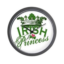 Irish Princess Tiara Wall Clock