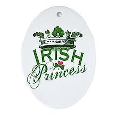 Irish Princess Tiara Oval Ornament