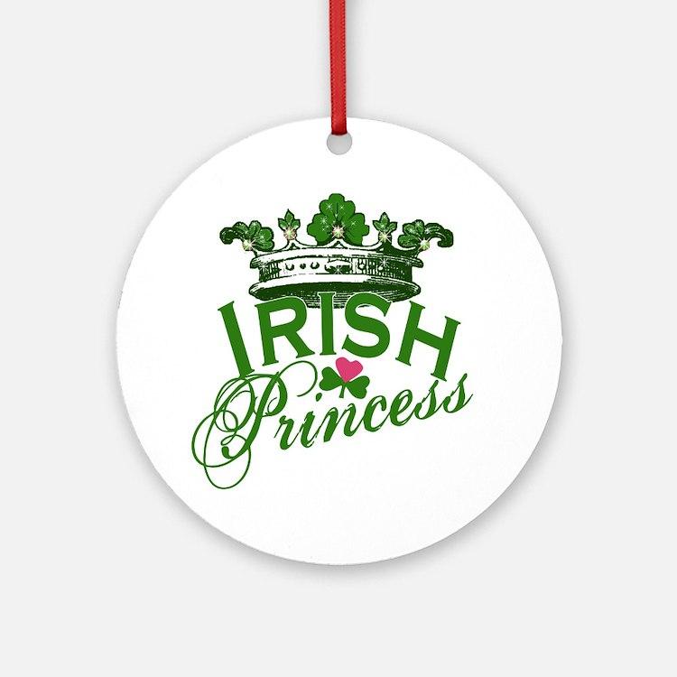 Irish Princess Tiara Ornament (Round)