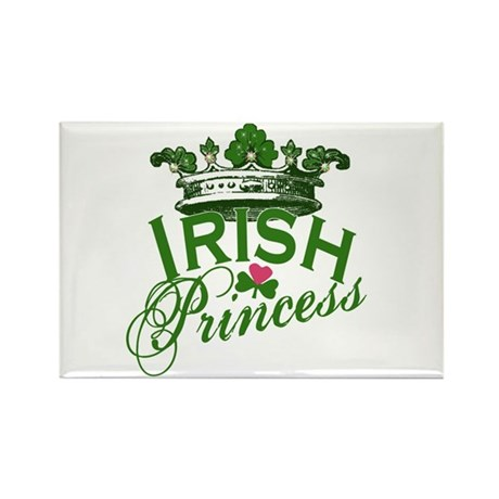 Irish Princess Tiara Rectangle Magnet