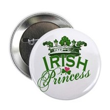 "Irish Princess Tiara 2.25"" Button"