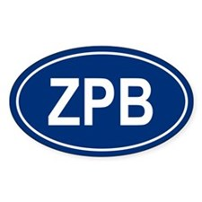 ZPB Oval Decal
