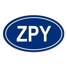 ZPY Oval Decal