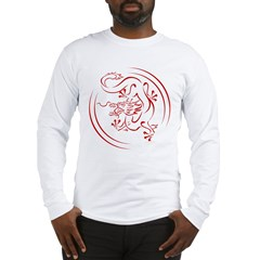 Red Chinese Dragon Long Sleeve T-Shirt