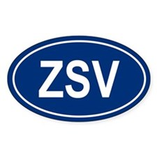 ZSV Oval Decal