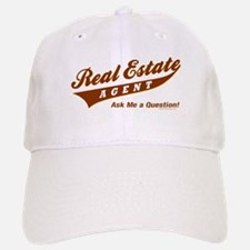INVITE QUESTIONS (Brown) Baseball Baseball Cap for the Realtor