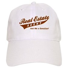 INVITE QUESTIONS (Brown) Baseball Cap for the Realtor