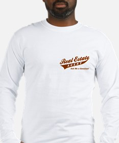 INVITE QUESTIONS (Brown Logo) Long Sleeve T-Shirt