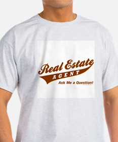 INVITE QUESTIONS (Brown Logo) Light Agent T-Shirt