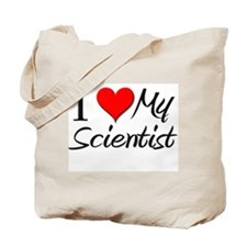I Heart My Scientist Tote Bag