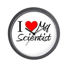 I Heart My Scientist Wall Clock