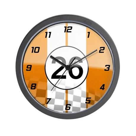 Trans Am Racing Art Wall Clock