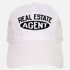 REAL ESTATE AGENT (Black) Baseball Baseball Cap