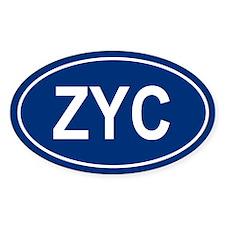 ZYC Oval Decal