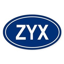 ZYX Oval Decal