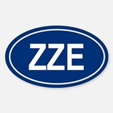 ZZE Oval Decal