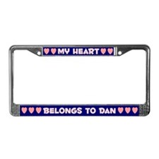 My Heart: Dan (#008) License Plate Frame