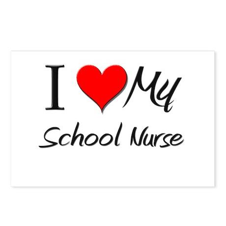 I Heart My School Nurse Postcards (Package of 8)