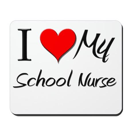 I Heart My School Nurse Mousepad