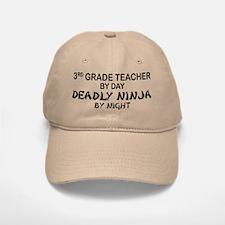 3rd Grade Teacher Deadly Ninja Baseball Baseball Cap
