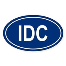 IDC Oval Decal