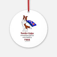 Super Border Collie-red Ornament (Round)