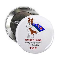 "Super Border Collie-red 2.25"" Button"