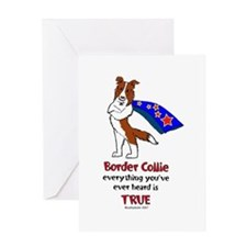 Super Border Collie-red Greeting Card