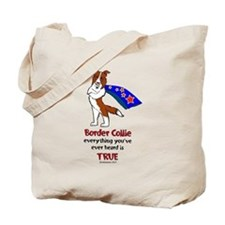 Super Border Collie-red Tote Bag