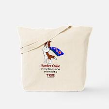 Super Border Collie-red Tote Bag