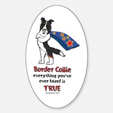 Super Border Collie Tri Oval Decal