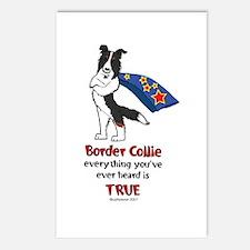 Super Border Collie Tri Postcards (Package of 8)