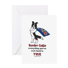 Super Border Collie Tri Greeting Card