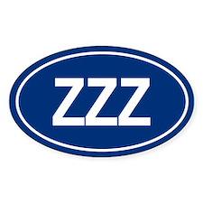 ZZZ Oval Bumper Stickers