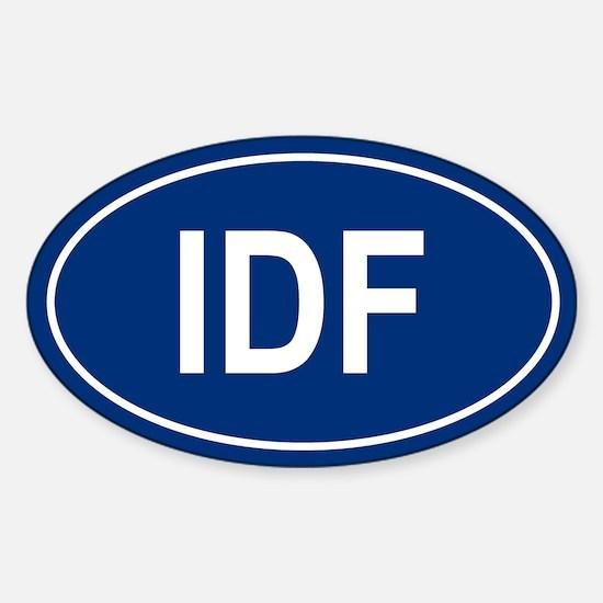 IDF Oval Decal