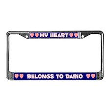 My Heart: Dario (#008) License Plate Frame