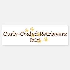 Curly-Coated Retrievers Rule Bumper Bumper Bumper Sticker